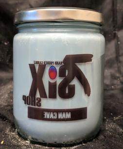 16oz Man Cave  Scented Mandle/Candle