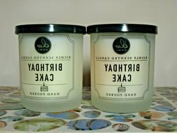 2 birthday cake richly scented candles small