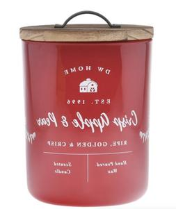 DW HOME *CRISP APPLE & PEAR* Double Wick Scented Candles -