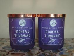 2 DW Home LAVENDER CHAMOMILE Richly Scented Candles Small 3.