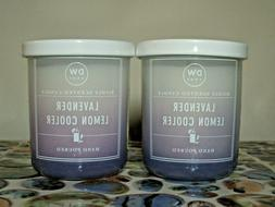 2 DW Home LAVENDER LEMON COOLER Richly Scented Candles Small