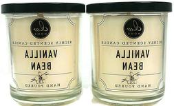 2 DW Home VANILLA BEAN Richly Scented Candles; 3.8 oz each X