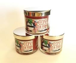 3-Pack of Bath and Body Works Spiced Wreath Scented Candles
