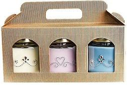 YR Soy Candles - 3 Pack Scented Candles Gift Set: Fresh Line