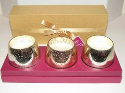 3 Scented Candles Ulta Boxed Holiday Gift Set Glass Sparkle