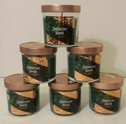 6 Pack Nordic Pine 4oz Scented Signature Soy Candles Burn up