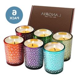 6PCS Different Scented Candles Organic 100% Soy Wax Aromathe