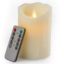 Gideon 5 Inch Flameless LED Candle - Real Wax & Real Flicker