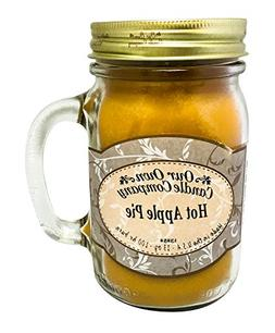 Our Own Candle Company Hot Apple Pie Scented 13 Ounce Mason