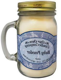 Baby Powder Scented Candle in 13 oz Mason Jar by Our Own Can