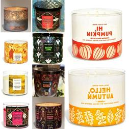 BATH AND BODY WORKS 3 WICK CANDLES, CHOOSE YOUR SCENT. 100 T