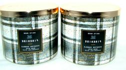 Bath & Body Works White Barn Fireside 3 Wick Scented Candle