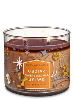 White Barn Bath & Body Works 3 Wick Candle Spiced Gingerbrea