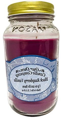 Our Own Candle Company Black Raspberry Vanilla Scented Mason