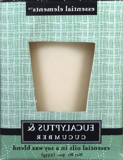 Candle Lite 1540174 9 Oz Eucalyptus & Cucumber Scented Candl