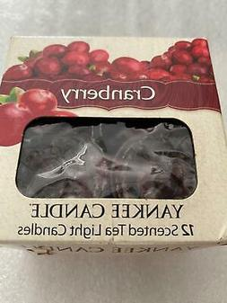 Yankee Candle Cranberry Holiday  Scented Tea Lights Boxed se