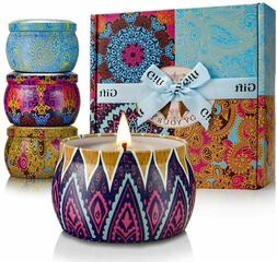 Crystal Collection- Large Size Scented Candles Gift Set, Nat