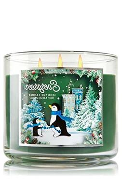 Bath & Body Works Evergreen Candle - Holiday Traditions 3 Wi