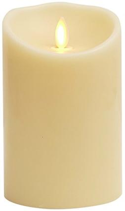Luminara Flameless Candle: Unscented Moving Flame Candle wit