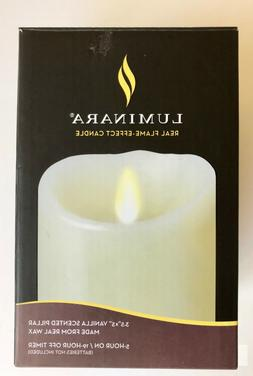 Luminara Flameless Candle: Vanilla Scented Moving Flame Cand