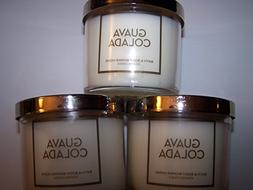 Bath & Body Works Lot of 3 Guava Colada Scented Candle with