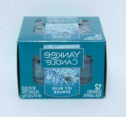 ICY Blue Spruce Tea Light Candles