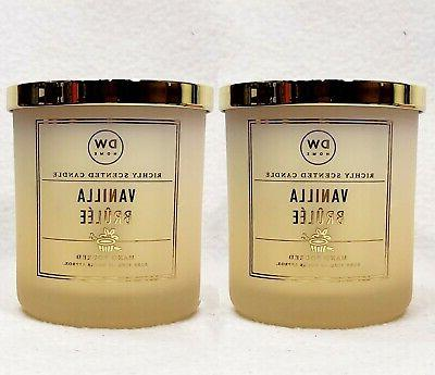 2 vanilla brulee richly fragranced scented wax