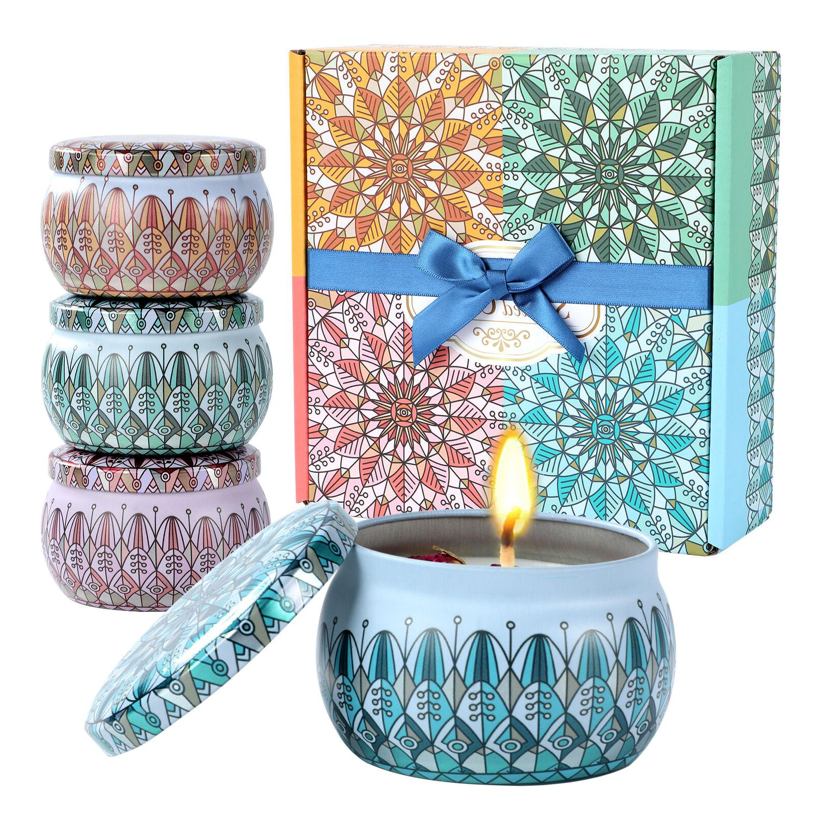 4 Pack Gifts Set,Aromatherapy Upgraded Soy