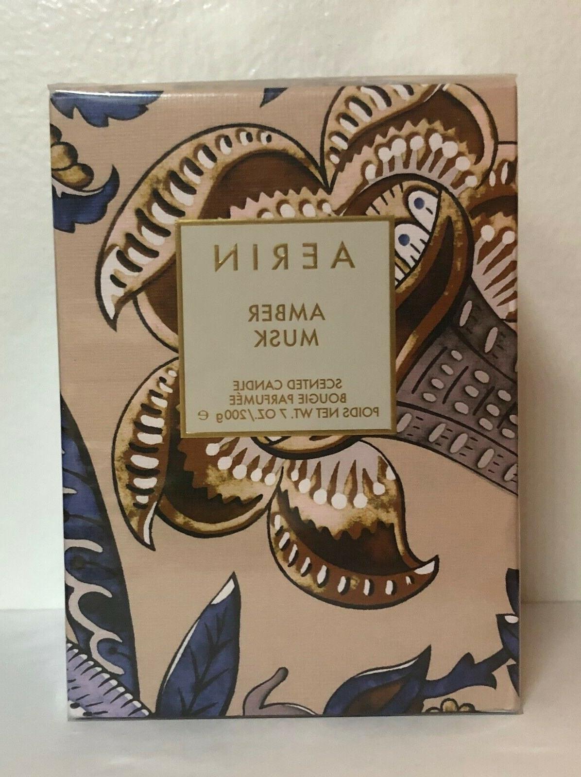 amber musk scented candle 7oz nib sealed