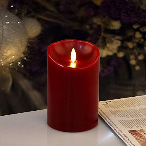 cinnamon scented red pillar candle