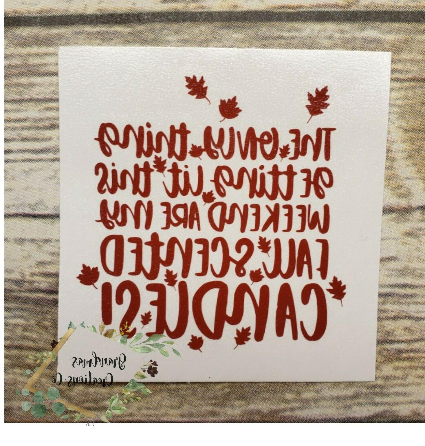 fall scented candle vinyl decal yeti tumbler