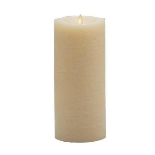 flameless moving wick wax candles pillar ivory