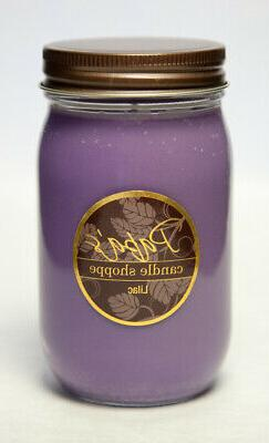 Papa's Candle - Lilac 16 oz Jar, Highly Scented Soy Candles!