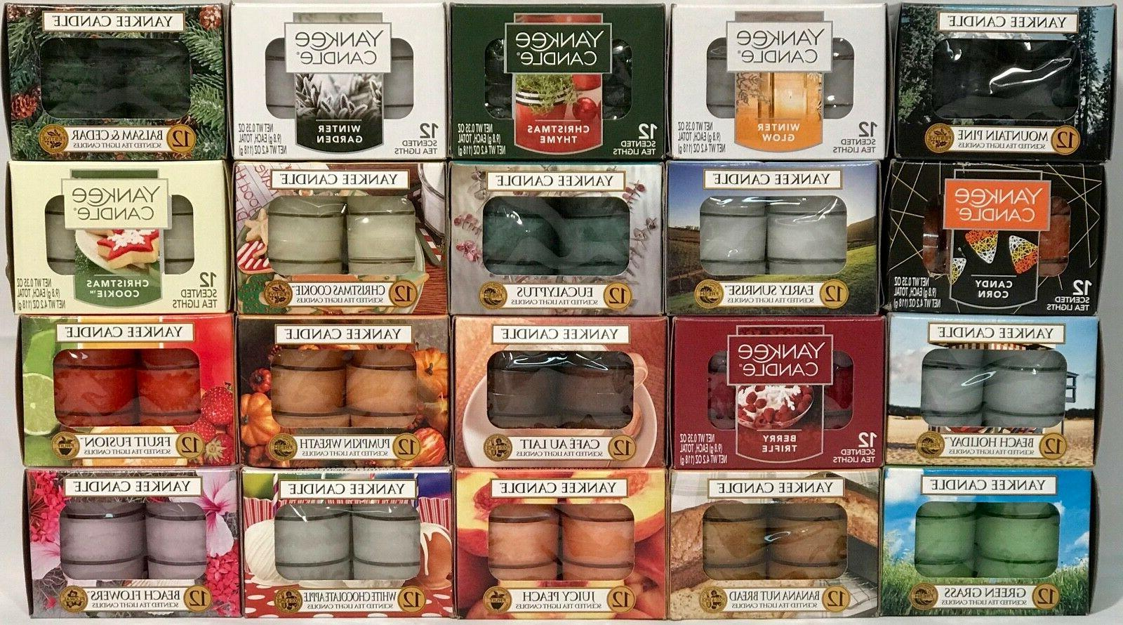 rare 12 pack scented tea light candles