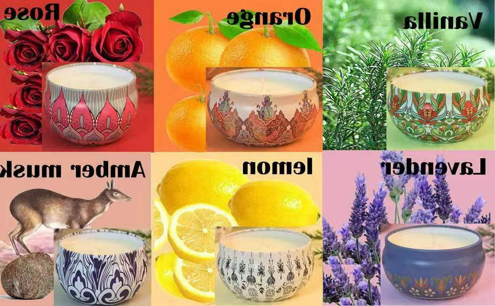 Scented Candles,Soy Gift Aromatherapy Sets
