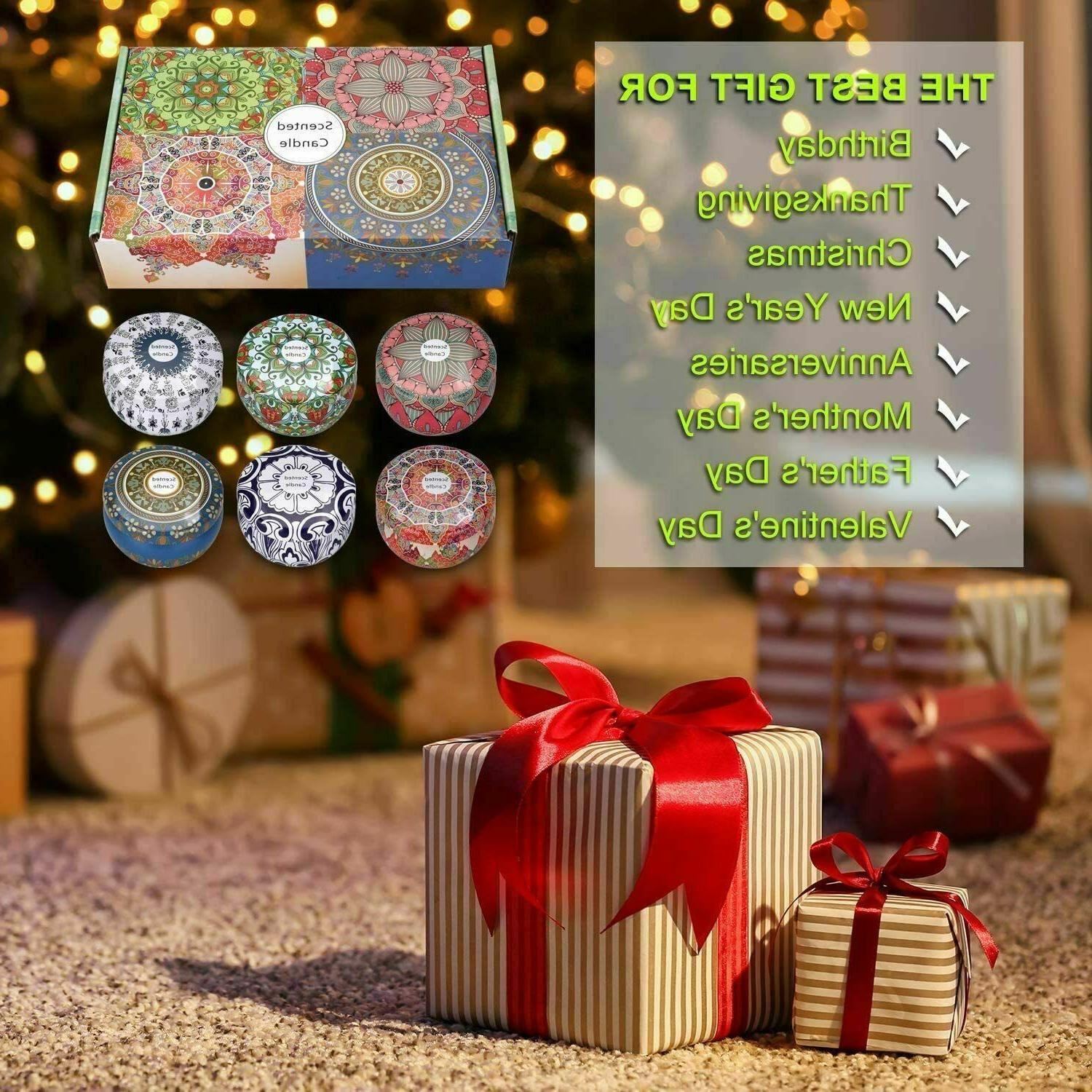 Scented Candles,Soy Gift Package Aromatherapy Candle Sets Women Gift
