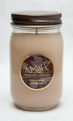 Soy Candles Scented, Papa's Candle Shoppe, Frankincense & My