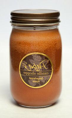Soy Candles Scented, Papa's Candle Shoppe, Gingerbread House