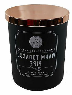 warm tobacco pipe richly scented candle two