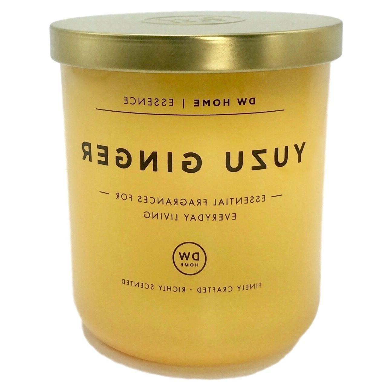 yuzu ginger scented soy wax blend candle