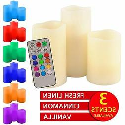 Scented Electric Candles Battery Flameless Led RGB Flickerin