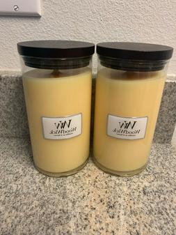 Lot Of 2 WoodWick Candle Seaside Scented 18.6 oz ea Large Si