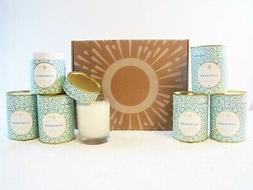 Lot of  Soy Wax Scented Candle Wood Wick Vanilla Patchouli 6