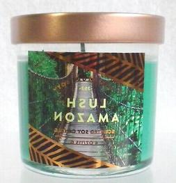 SIGNATURE SOY LUSH AMAZON SCENTED WAX CANDLE IN GLASS JAR 4