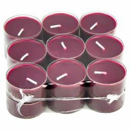 PACK OF 18 APPLE & CINNAMON SCENTED TEA LIGHTS IN CLEAR CUPS