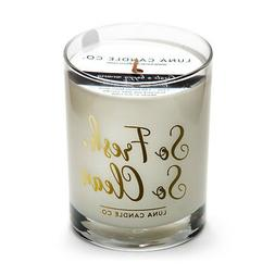 Premium Soy Wax Fresh Linen Scented Candle, 11 oz Glass Jar-