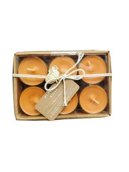 Pumpkin Spice Scented 12 Pack Orange Tealight Candles by Thr