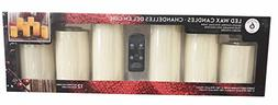 6 pk Remote Control Flameless LED candles with Vanilla Scent