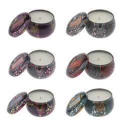 Scented Candle Organic 100% Soy Wax & Oils Aromatherapy Cand