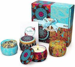 YINUO MIRROR Scented Candles Gift Set,NATURAL Soy Wax 4.4 Oz